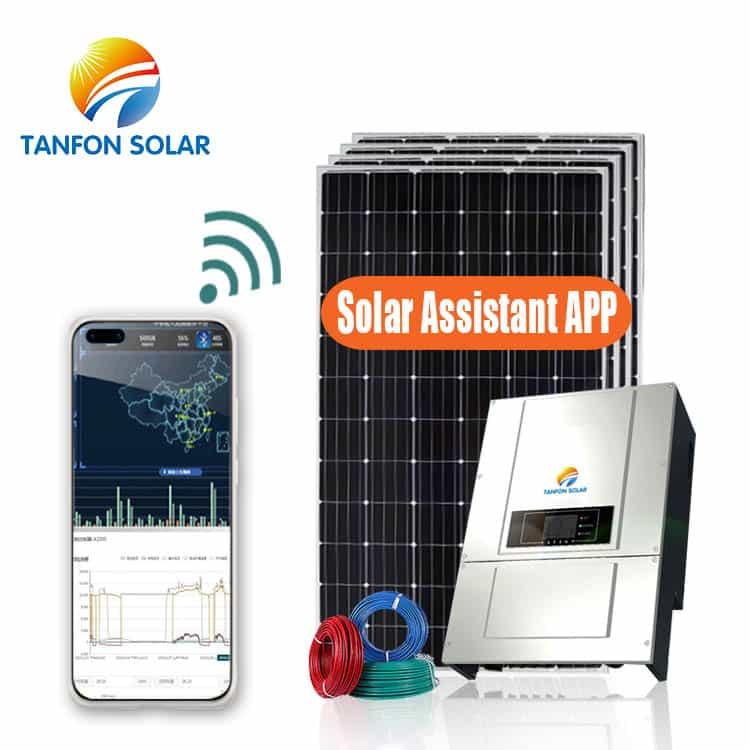 500kW off grid 3 phase Solar power Generation
