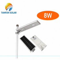 all-in-one solar powered roadway lighting poles with single bracket/arm