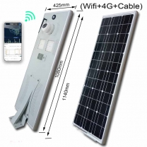 60W solar street light with WIFI 4G Cable