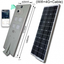 80W Solar Street Light System with App assistant control