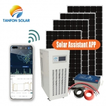 solar power solution for outdoor power supply integrated with diesel generator