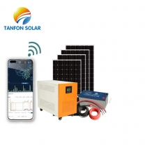 Factory Wholesale 6000W Off Grid Solar Kits With Batteries power