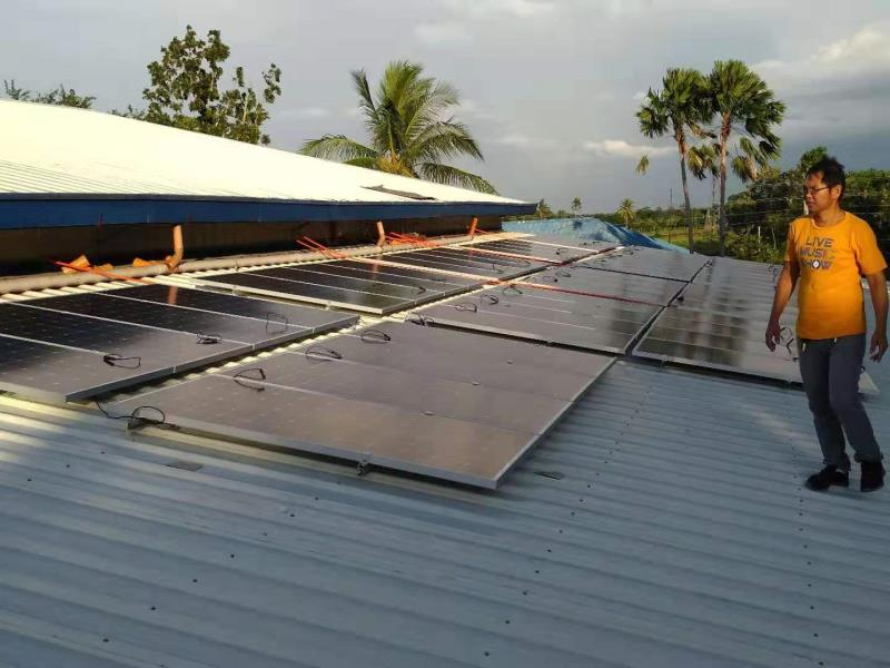 Tanfon solar Hybrid system in Philippines