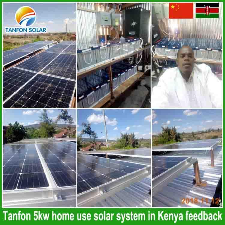 Tanfon 5kw Home Solar Panel Ssystem In Kenya