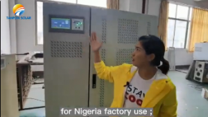 Why Nigeria customer 150KW solar energy project choose Tanfon solar ?
