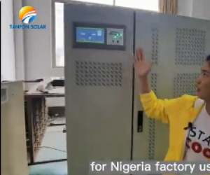 Why Nigeria customer 150KW solar energy project choose Tanfon solar ?