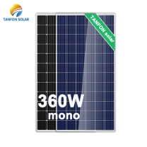 High Efficiency 360wp Mono-Crystalline Solar Panel with TUV Certificate