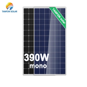 Mono Crystalline 390W Solar Panel for Home Energy System