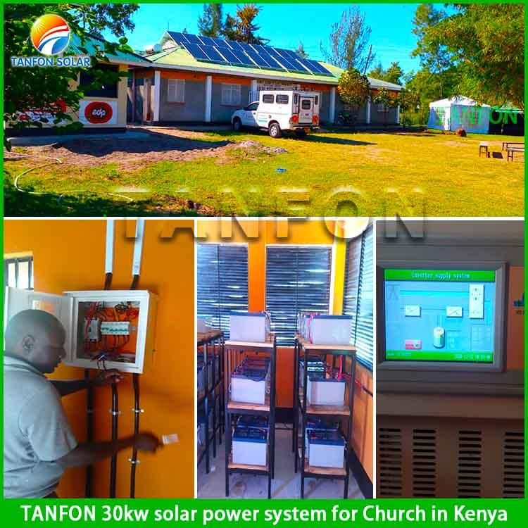 30KW solar power system for church in Kenya