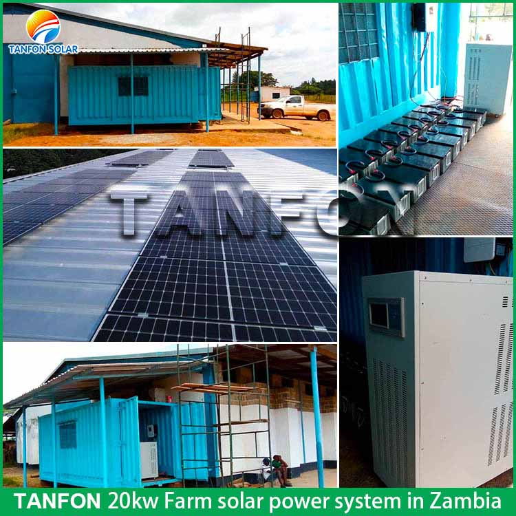 TANFON 20KW farm solar power system located in Zambia