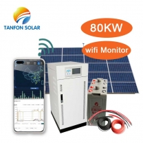 80kw solar power system with Remote monitoring