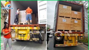 Nigeria 150kw solar power system load the container