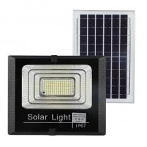 Aluminum Body Road Way Lamp 300W Solar Led Flood Light With Solar Panel