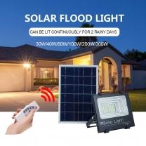 Most Powerful Outdoor Ip67 200W Aluminium Waterproof  Led Solar Flood Light