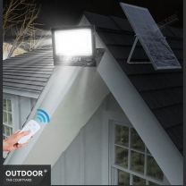 400W Solar Flood Lights Outdoor IP67 Waterproof With Remote Control