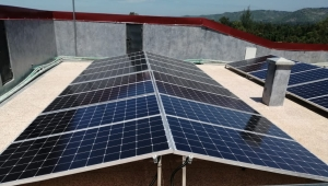 How to calculate the area required for a solar power system