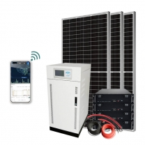 3 Phase Solar Panel Power Statutes Off Grid With Storage Batteries