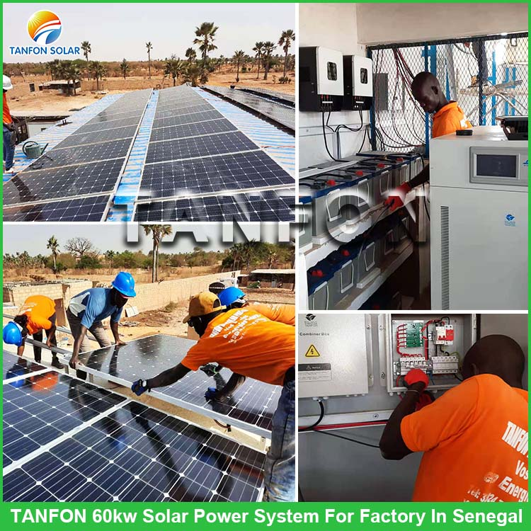 60KW Off Grid Solar Plant System Factory Use In Senegal