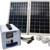 DC System 20W Lead Acid Battery Solar Panel Light Kit Outdoor And indoor