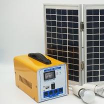 10W Solar Panel Kit Lead Batteries Home Solar Lighting System