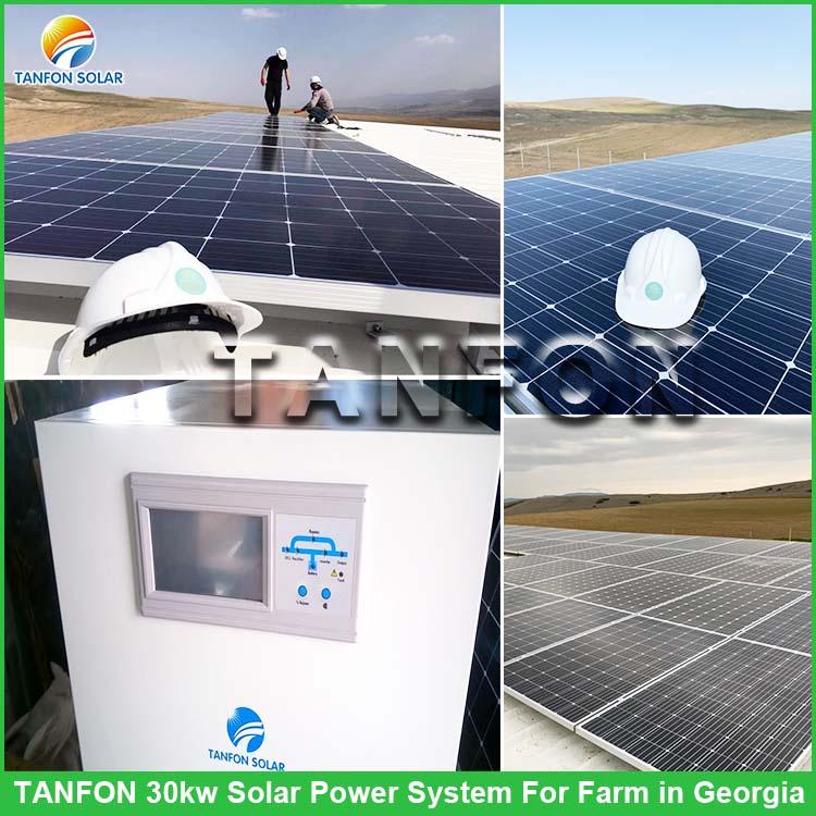 Tanfon 30KW Off Grid Solar Power System for Farm in Georgia