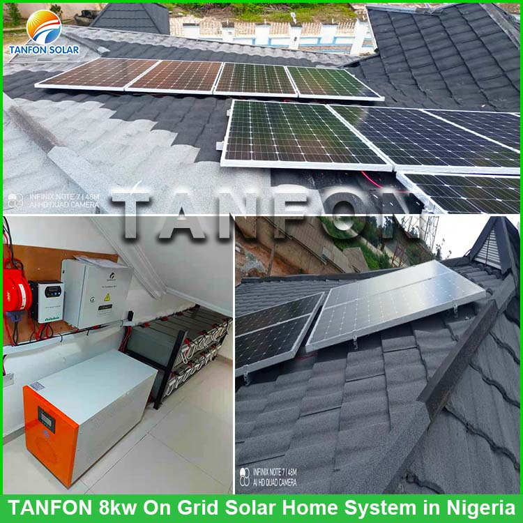 Nigeria customer how to connect 8kw solar Home system?