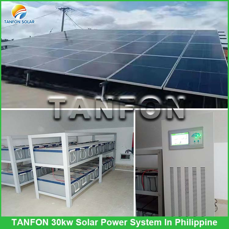 Tanfon 30KW off grid solar system with PERC panel in Philippine