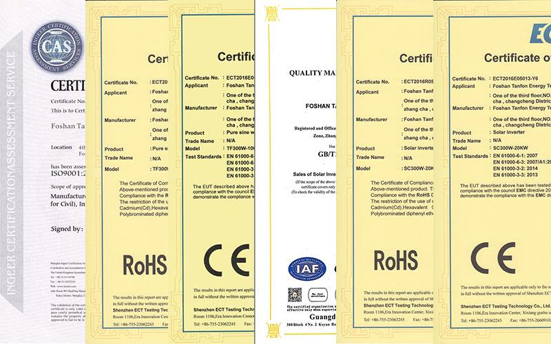 Tanfon Certificate